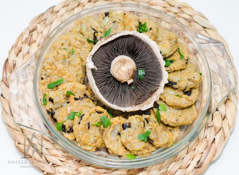 לביבות תפוחי אדמה ופטריות