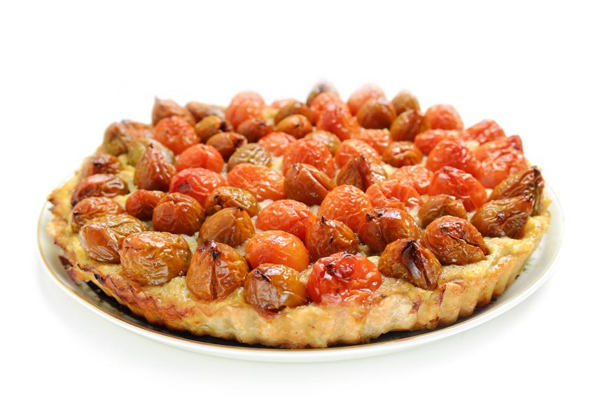 טארט עגבניות שרי עם קרם ארטישוק