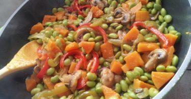 אדממה מוקפץ עם ירקות