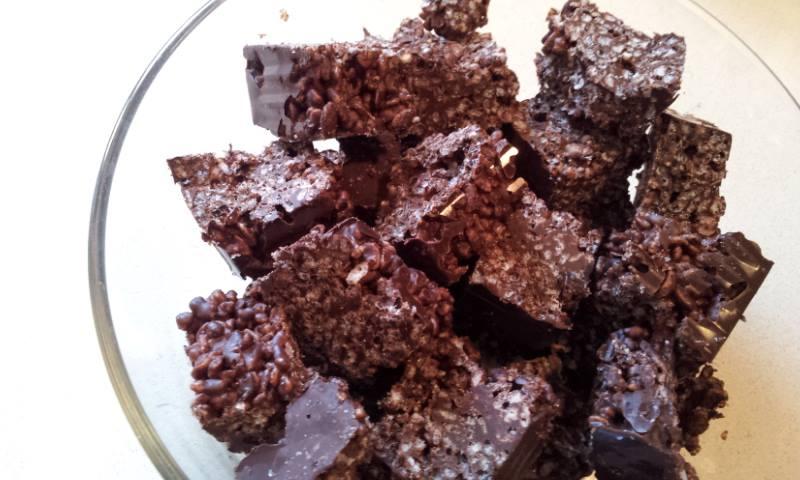 #1 קוביות פצפוצי אורז ושוקולד