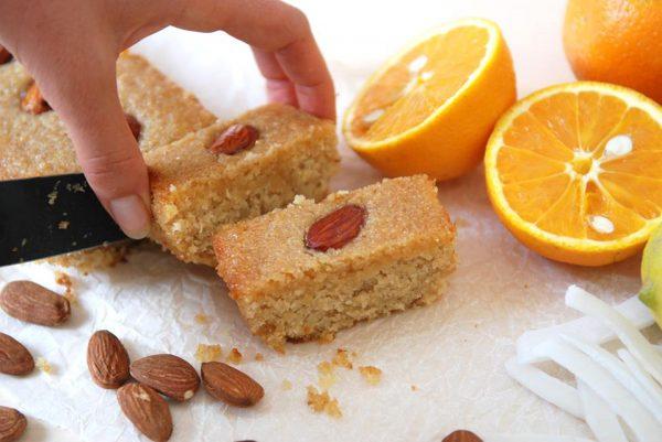 עוגת סולת קוקוס תפוז