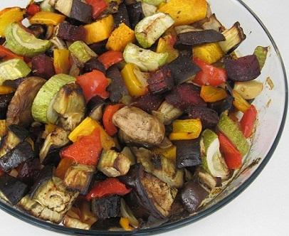 אנטיפסטי – ירקות בתנור
