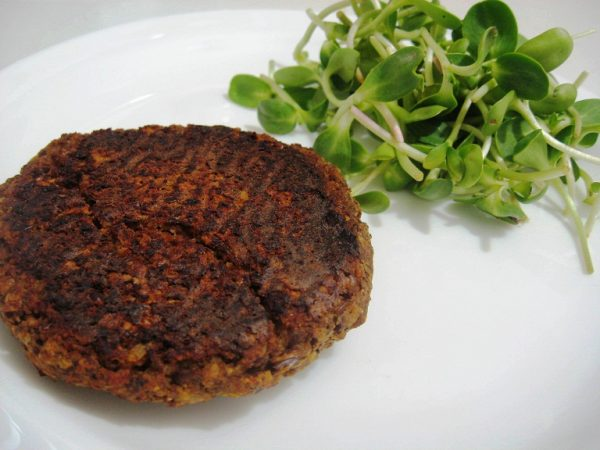 המבורגר עדשים ופטריות