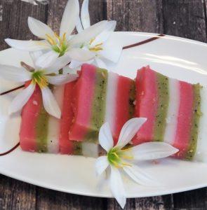 עוגת אורז מאודה עם תה ירוק ופטל