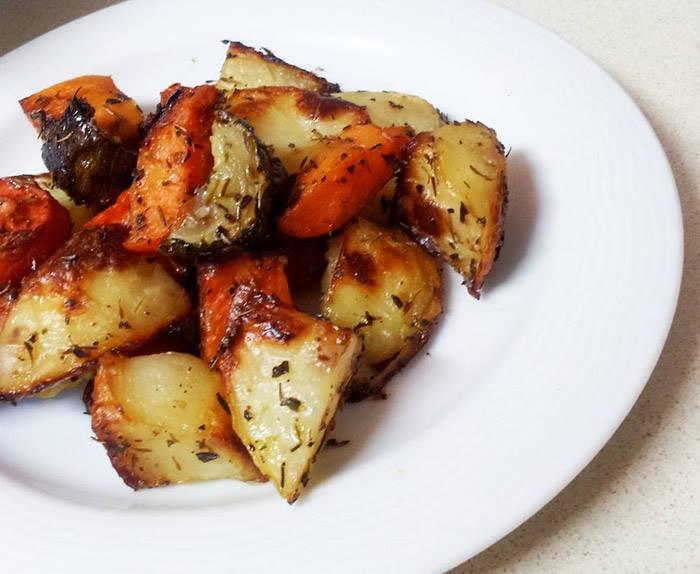 תפוחי אדמה, גזר וזוקיני בתנור