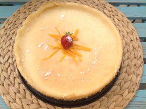 עוגת גבינה טבעונית אפויה בטעם של פעם