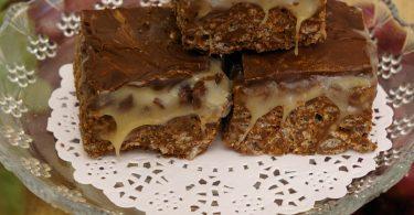 חטיף פצפוצי אורז ושוקולד עם קרמל קוקוס