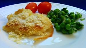 מאפה תפוחי אדמה מוקרמים