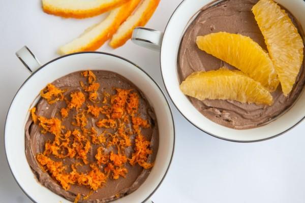 מוס שוקולד ותפוזים