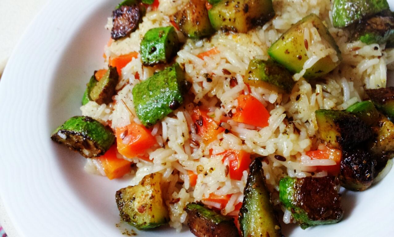 אורז בסמטי עם זרעי כמון