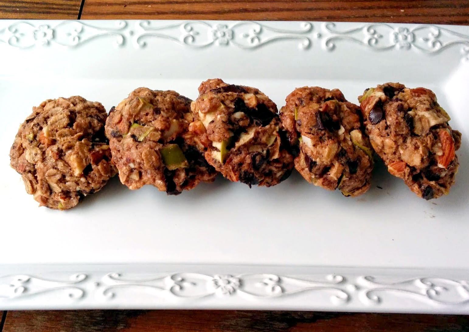 עוגיות שוקולד-צ'יפס-תפוחים-ירוקים