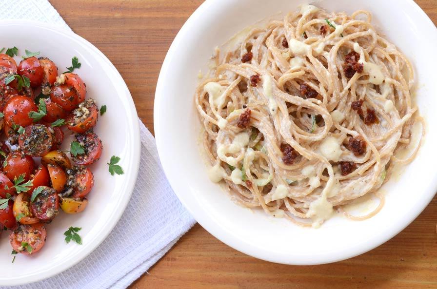 ספגטי ברוטב שמנת
