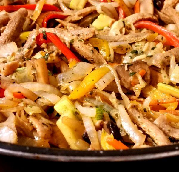 שווארמה סויה עם ירקות