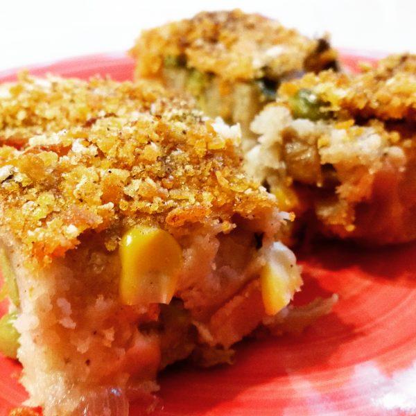 פשטידת תפוחי אדמה, אפונה ותירס