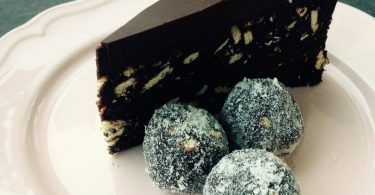 עוגת כדורי שוקולד טבעונית