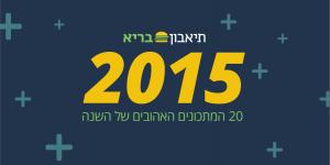 המתכונים הנצפים בשנת 2015