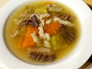 מרק ירקות עם פסטה אורז