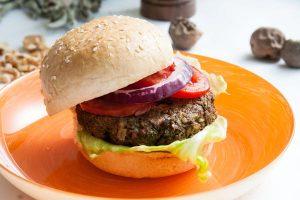 המבורגר פריקי, שעועית שחורה ושיבולת שועל
