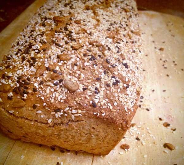 לחם כוסמין מלא, שיפון ושיבולת שועל