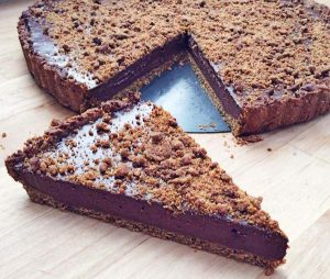 טארט שוקולד טבעוני