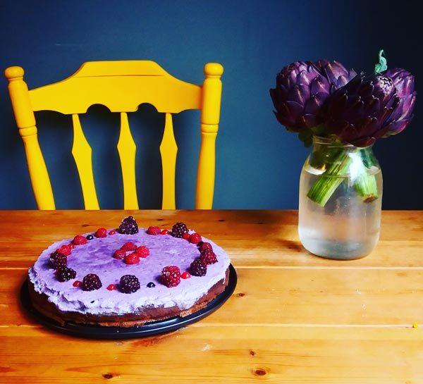 עוגת כוסמת ופירות יער