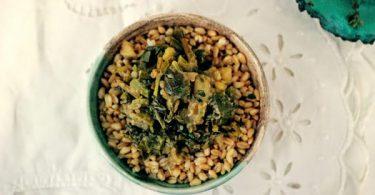 נזיד עלים ותפוחי אדמה אתיופי
