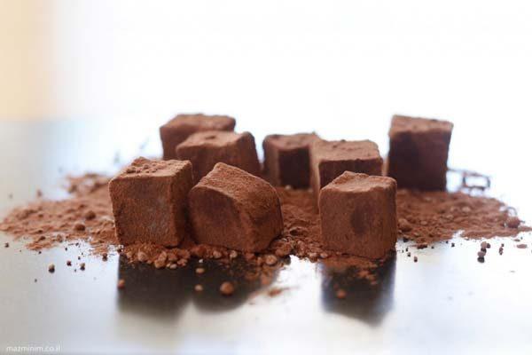 מיני טראפלס שוקולד