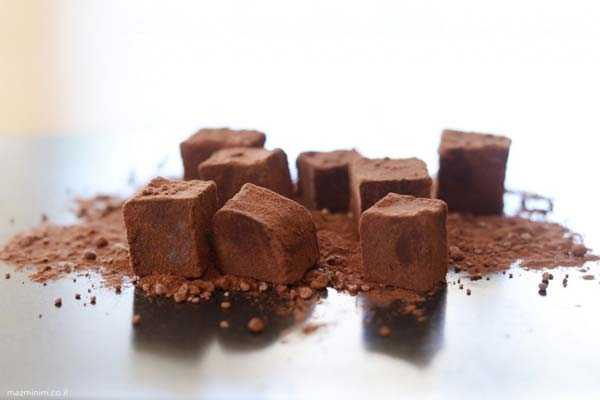 מיני טראפלס שוקולד כשרים לפסח