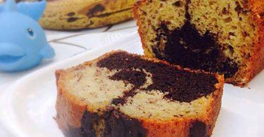 עוגת שיש בננות