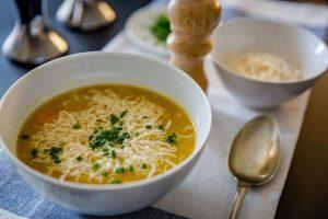 מרק מוקרם עם מוצרלה