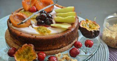 עוגת גבינה אפויה, טבעונית