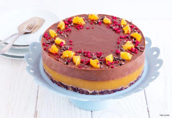 עוגת שוקולד-מנגו (טבעוני)