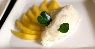 סטיקי רייס עם מנגו (Sticky Rice With Mango)