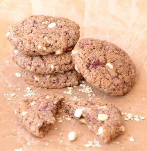עוגיות פטל ושוקולד לבן
