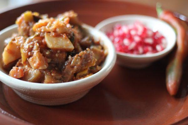 אַגַ'פְּסַנְדָלִי: תבשיל חצילים גיאורגי