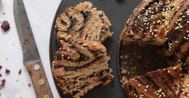 עוגת שמרים במילוי נוטלה ביתית