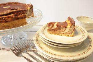עוגת גבינה ושוקולד אפויה