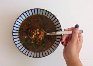 מרק שעועית תירס מקסיקני