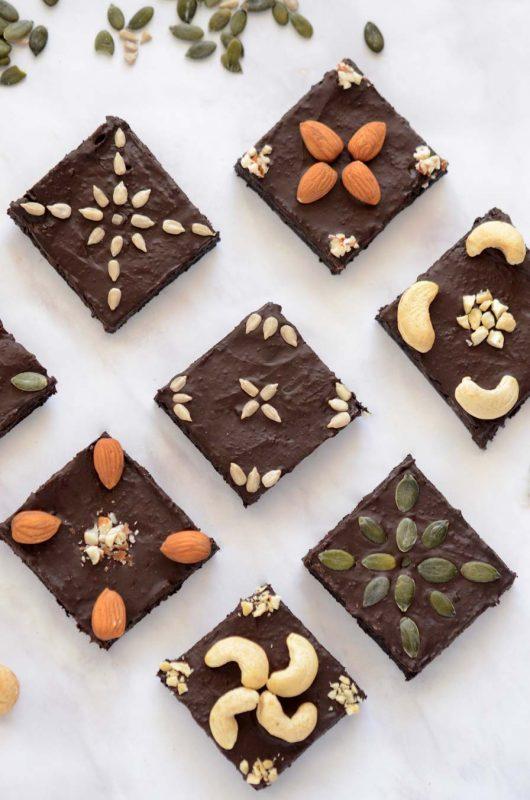 בראוניז שוקולד ואגוזים
