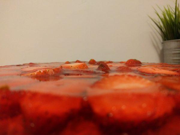 עוגת ג׳לי תותים