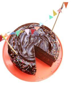 עוגת שוקולד טבעונית במחבת