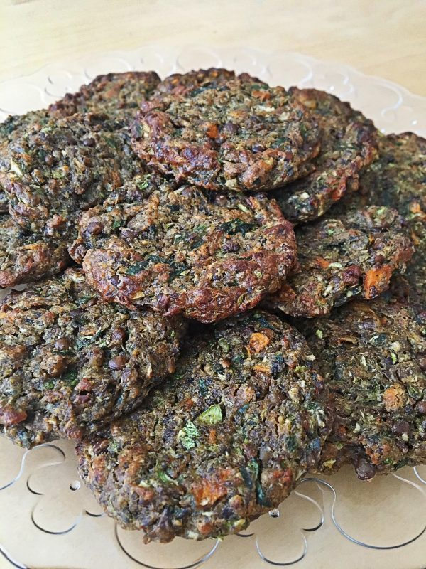 מיני המבורגר עדשים ופטריות