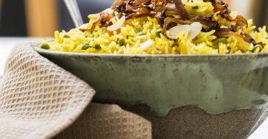 אורז הודי חגיגי עם ירקות