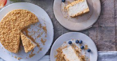 """עוגת """"גבינה"""" פירורים טבעונית"""