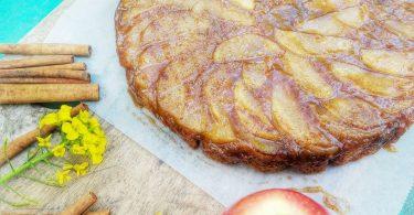 עוגת תפוחים הפוכה