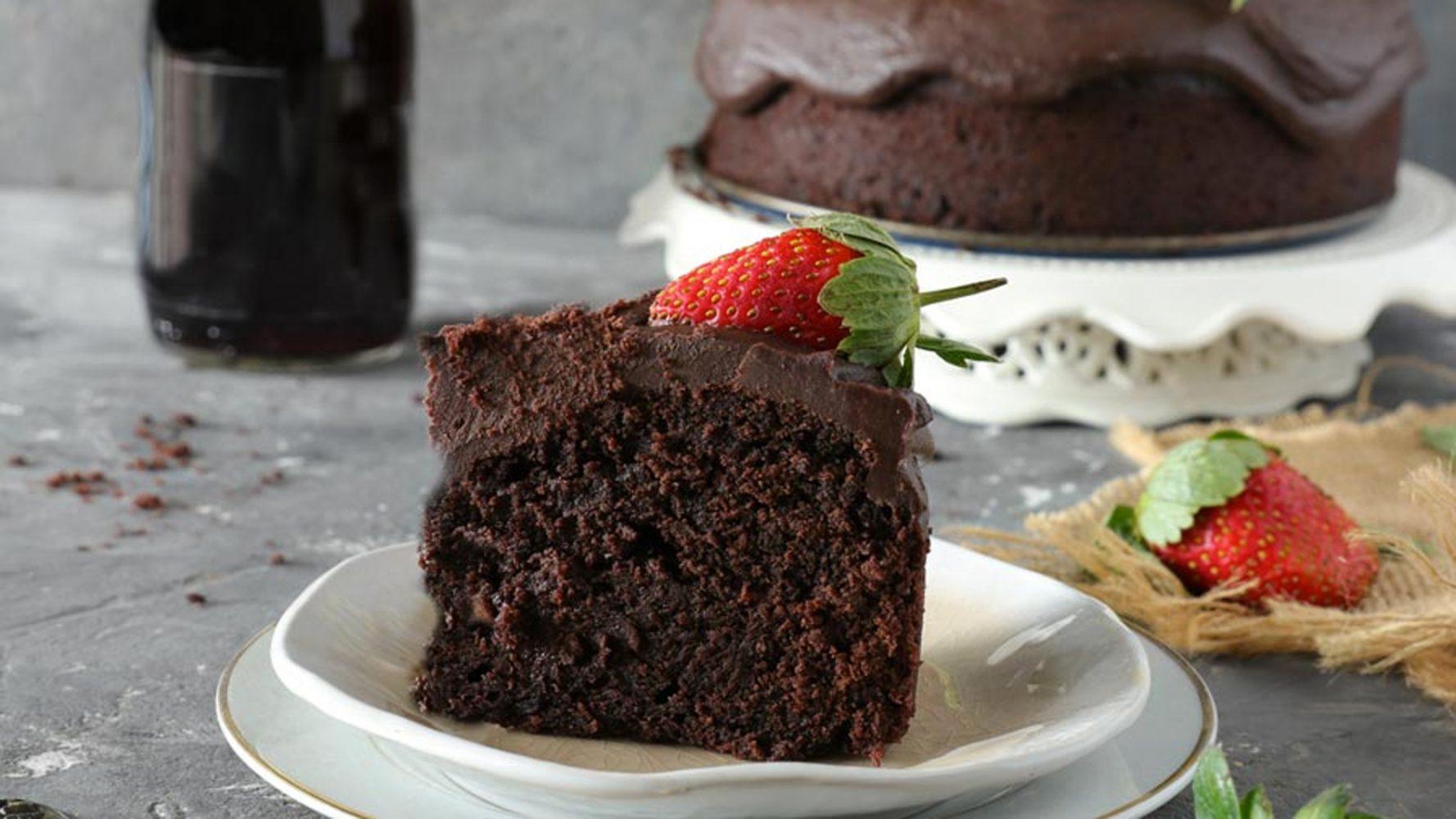 עוגת שוקולד טבעונית ויין