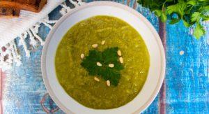 מרק אפונה וארטישוק ירושלמי