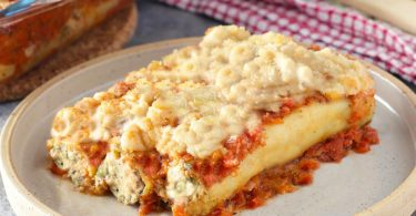 קנלוני גבינה טבעונית ותרד