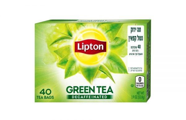 ליפטון - תה ירוק נטול קפאין